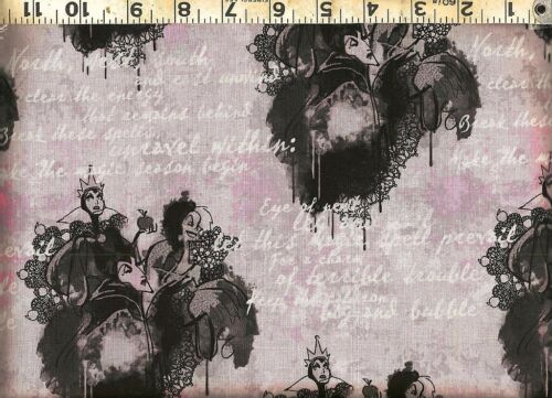 Springs ~ U Pick  Disney Villians Evil Queens ~ 100/% Cotton Quilt Sew Fabric BTY
