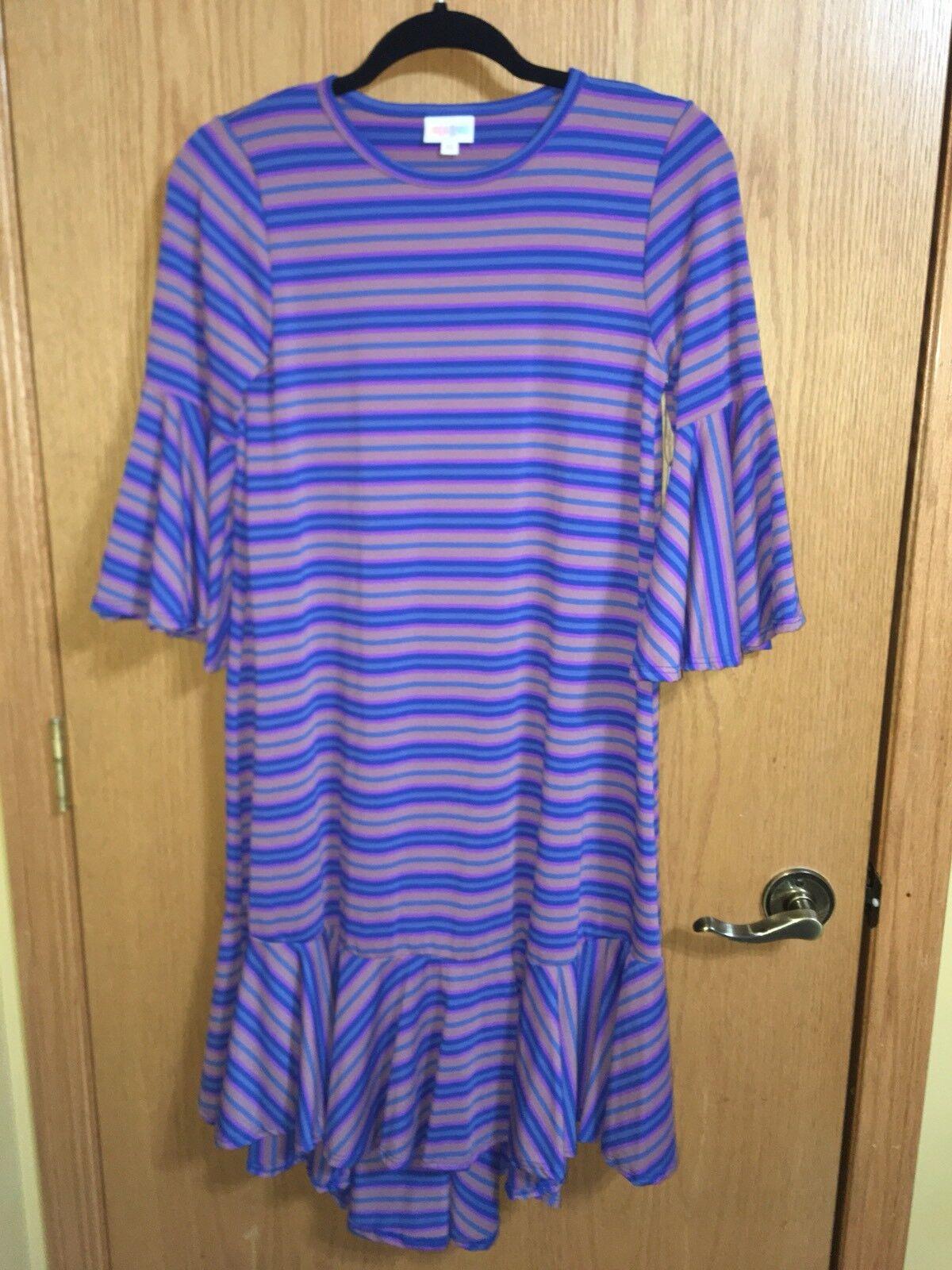 9c8ff255d19 Lularoe Maurine XS bluees   Purples Stripes ncuwhy6169-Dresses