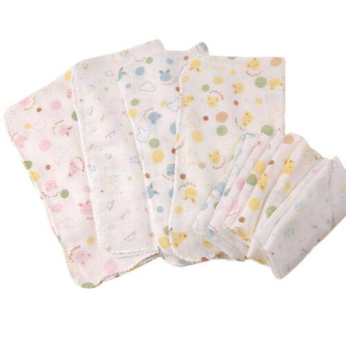 5 x 100/% Cotton Super Cute Baby Gauze Muslin Square Bath Wash Cloths 30X30cm New