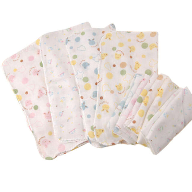 264986b140db 5 X 100 Cotton Super Cute Baby Gauze Muslin Square Bath Wash Cloths ...