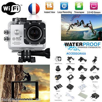 """2.0"""" LCD 1080P 12MP WiFi Sport Action Caméra Etanche 170° DV Caméscope Vidéo FPV"""
