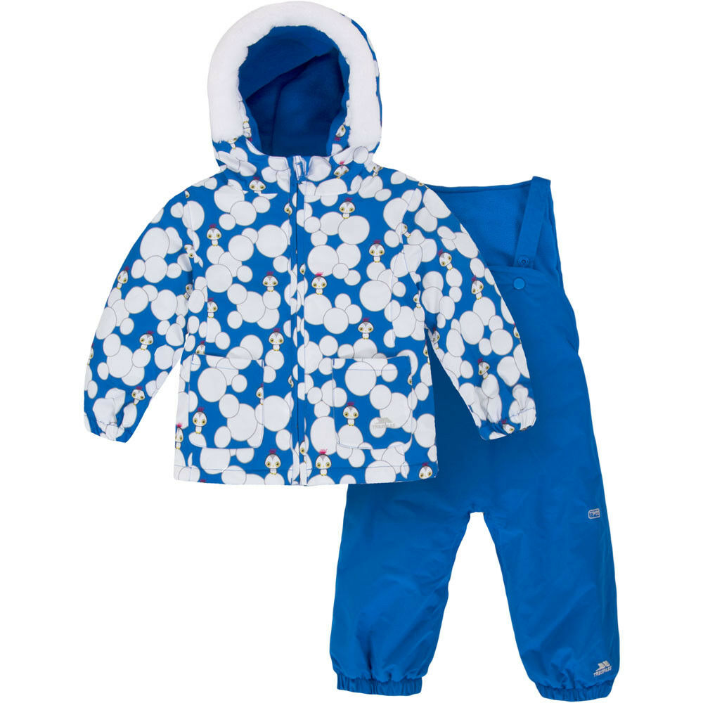 Trespass Squeezy Toddler Ski Suit, bluee