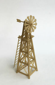 Outland Models Modelleisenbahn Miniatur Landwirt Windmühle (Gold) Spur H0 1:87
