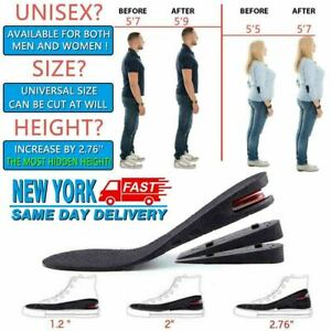 Men-Women-Invisible-Heel-Lift-Taller-Shoe-Inserts-Height-Increase-Insoles-Pad-US