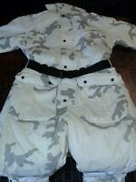 Cabela's Winter White Snow Camo Coveralls Winter Thermore Thermal Insulated Med