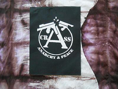 CRASS DIY PATCH//punk/joy division/bjork/dirt/conflict/clash/amebix/siouxie/kbd