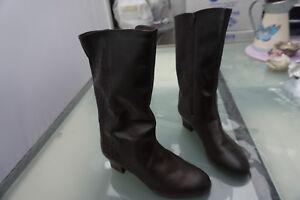 Medicus-Nora-Damen-Winter-Stiefel-Boots-Gr-4-G-37-schwarz-Leder-gefuettert-NEU