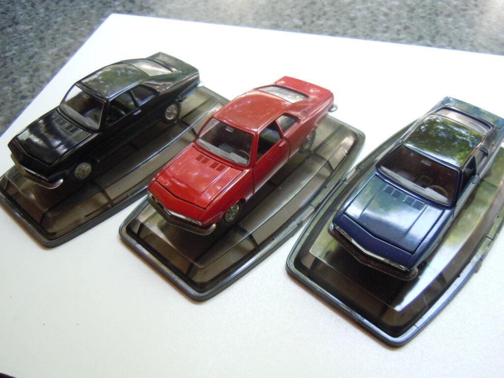 3 rare Opel Manta A Modelle von Pilen bzw. Artec  in 1 43 mit OVP D