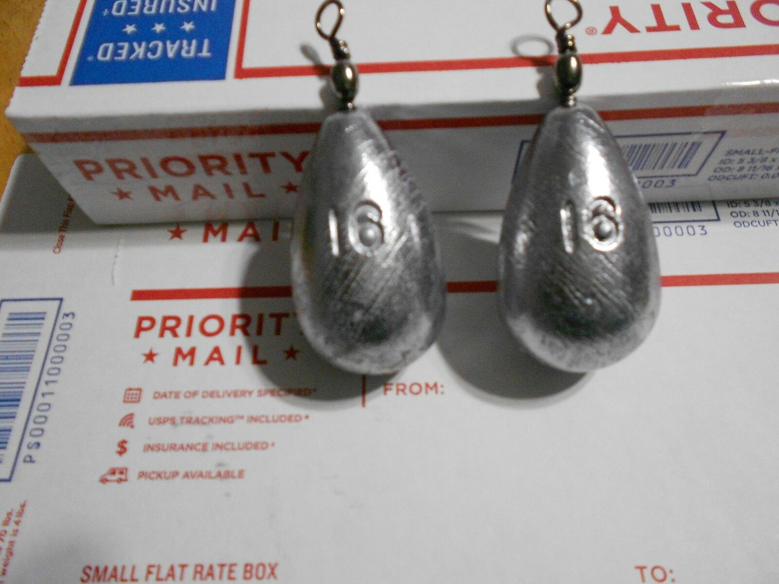 14 - 16 OZ HANDMADE LEAD BELL SINKERS WITH SWIVEL EYES FROM A DO-IT-MOLD