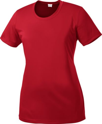 Ladies Dry Fit T-shirt Yoga Workout Running S-2XL 3X 4X LST350 Womens SPORT TEK