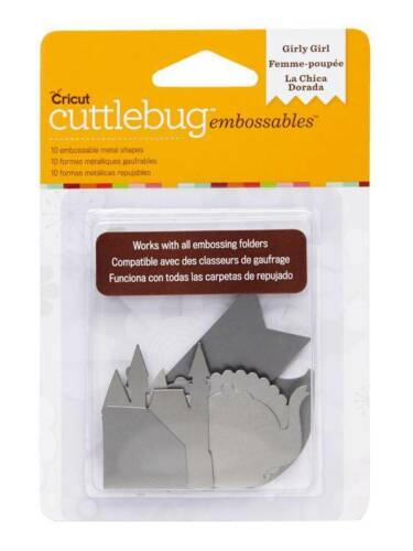 Cuttlebug Embossables Metal Shapes Girly Girl 2002197 Silver