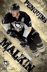 Diplomatique Evgeni Malkiin Affiche~ Focus 22x34 Nhl Pittsburgh Penguins Hockey 13141 Ligue