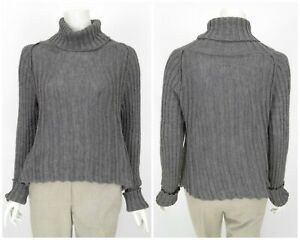Womens-Sarah-Pacini-Wool-Alpaca-Mohair-Knit-Jumper-Sweater-Grey-One-Size