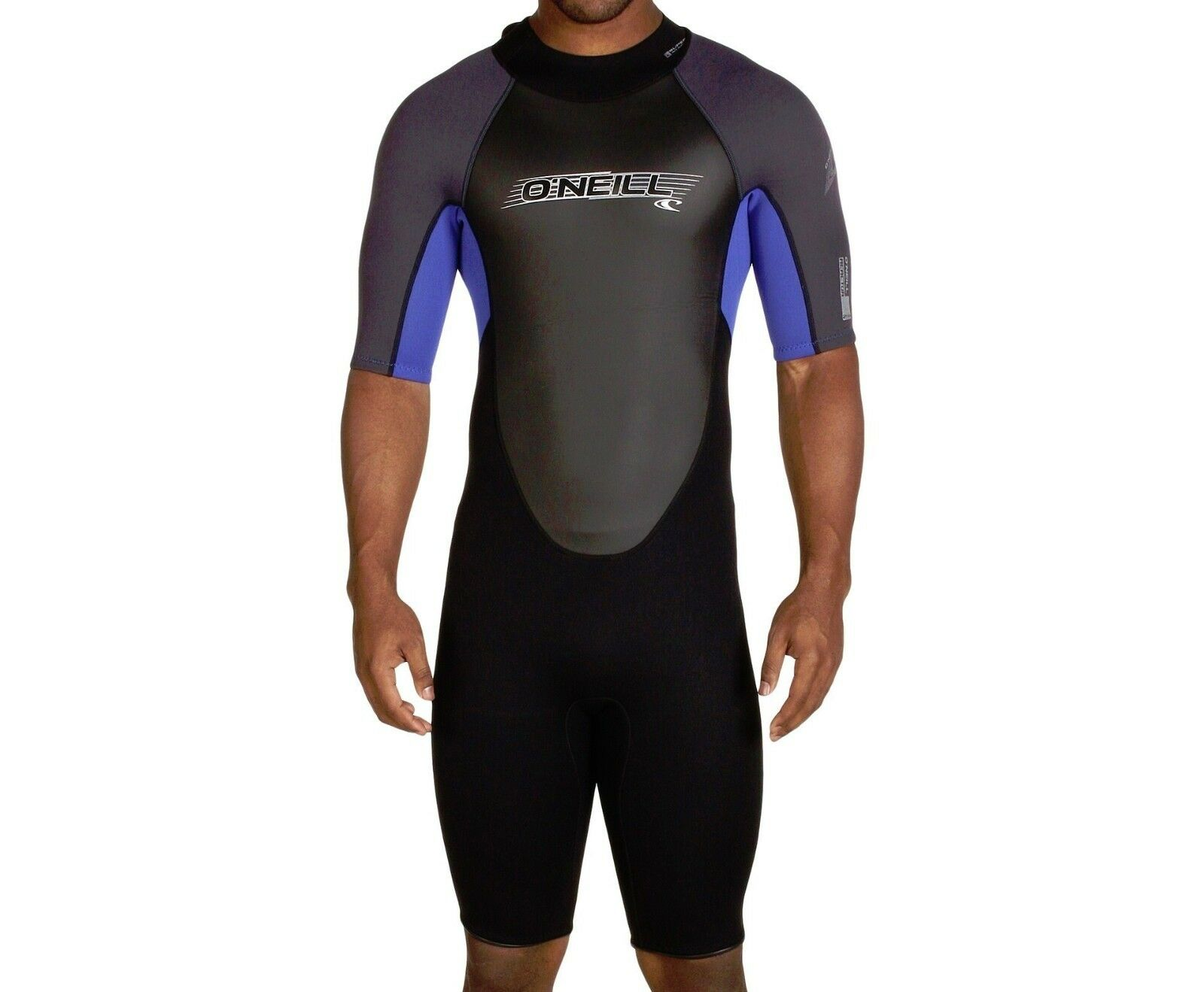 O'NEILL Men's 2mm REACTOR S S Springsuit - BLK PAC GRAPH - Small - NWT