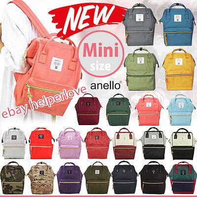 Japan Anello Original NEW MINI SMALL Backpack Rucksack Canvas Quality School Bag