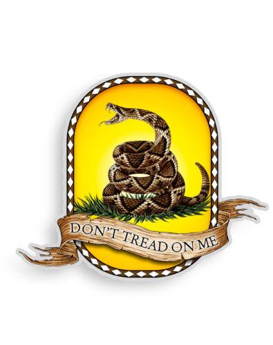 Don/'t Tread On Me Gadsden Flag Rattlesnake Decal Sticker