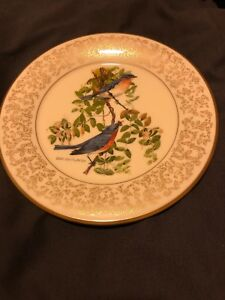 EASTERN-BLUEBIRDS-plate-by-Don-Whitlatch-GORHAM-Fine-China-Limited-Edition