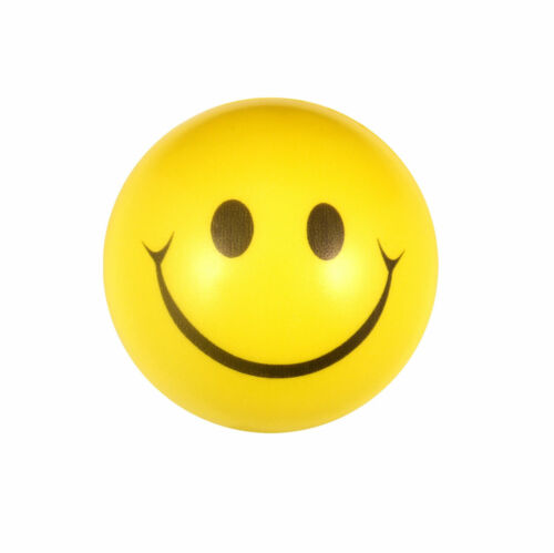 HAPPY YELLOW FOAM BALLS Birthday Party Bag Filler Favors Emoji Ball Toy Gift UK