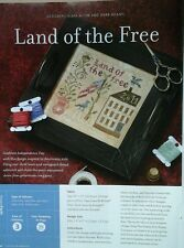 "HTF Cross-Stitch Magazine with Blackbird Designs ""LAND OF THE FREE"" Pattern"