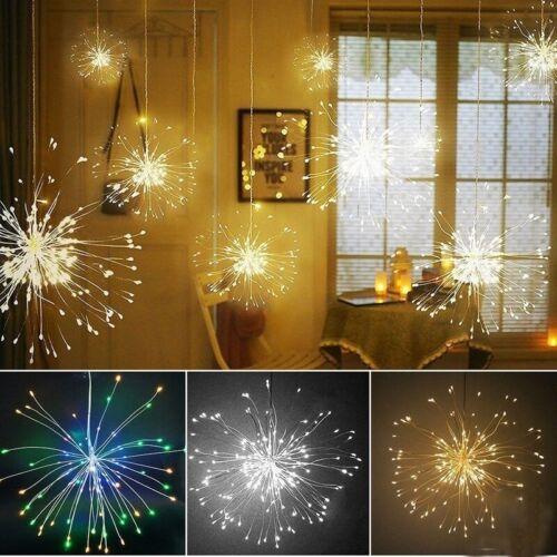Solar Power Feuerwerk Fairy String Light Xmas Hochzeitsdekor 100//120//150//180LED