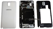 OEM Samsung Galaxy Note 3 N9005 Full Housing Cover Case Frame Camera Lens White