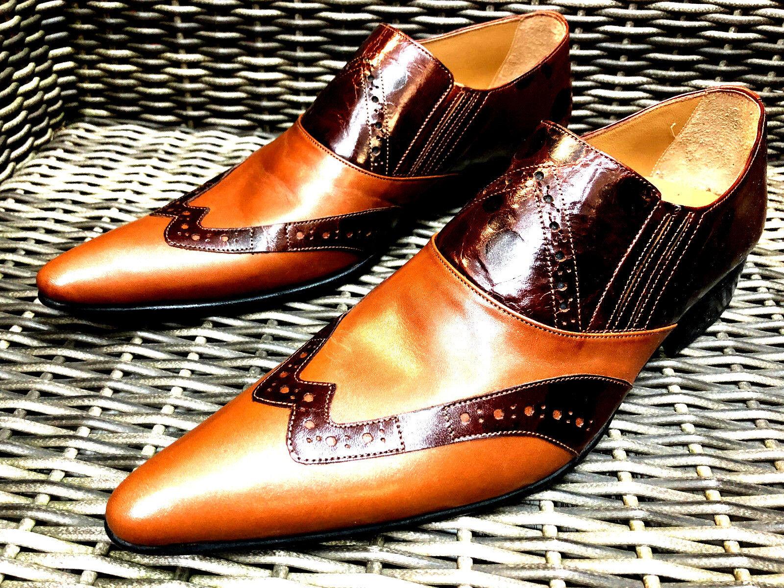 Chelsy Marrón Claro Cuero Zapatos Hombre Loafer Diseñador Mocasines Hecho a Mano