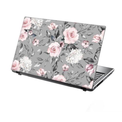 """15.6/"""" TaylorHe Laptop Vinyl Skin Sticker Decal Elegant Rose Vintage Floral 2277"""