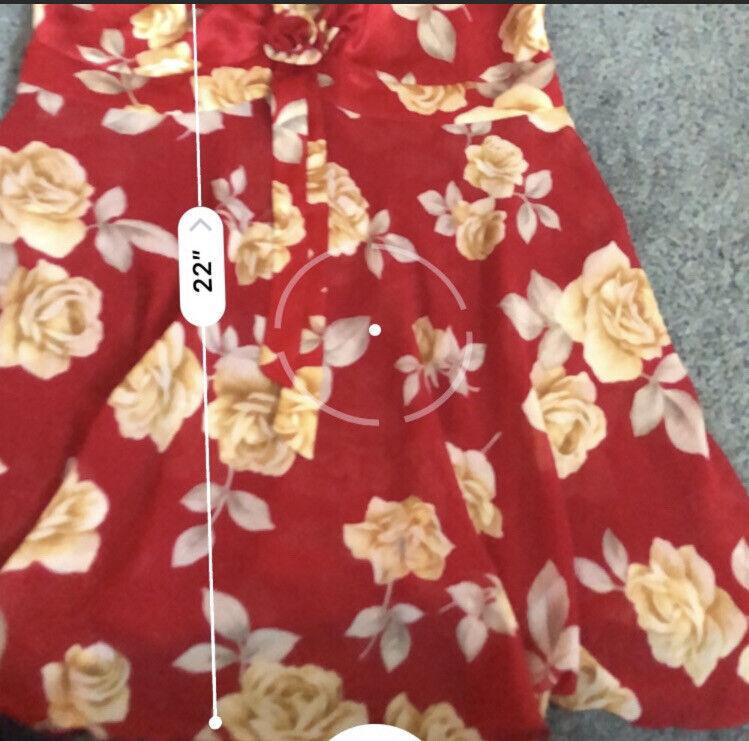 Victoria's Secret Floral Red Lingerie Slip Dress … - image 9