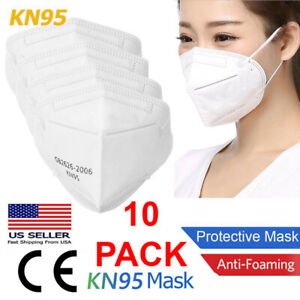 10 PCS KN95 Face Mask Disposable Mouth Cover MEDICAL Protective Respirator PM2.5