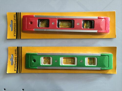 1 x Mini Wasserwaage in Rot oder Grün Edition 23 cm mit Magnet Neu /& OVP