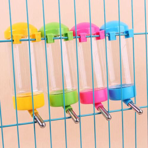 3Sizes-Plastic Hanging Hamster Guinea Pig Rabbit Water Bottle Dispenser Feede Bn