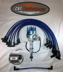 small block ford 289 302 blue small hei distributor, 60k coil plugimage is loading small block ford 289 302 blue small hei