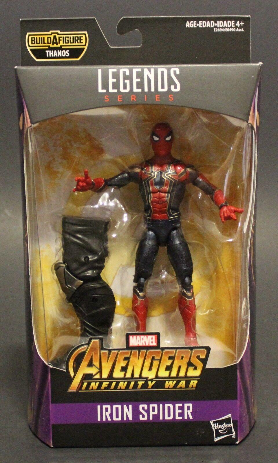 2018 Hasbro Marvel Legends 6  IRON SPIDER THANOS BAF figure Avengers Infinity Wa