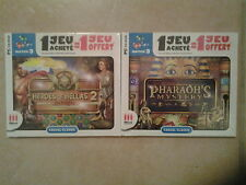 28008// LOT 2 JEUX  REFLEXION MATCH 3  HEROES OF HEKKAS 2 + PHARAOH'S MYSTERY PC