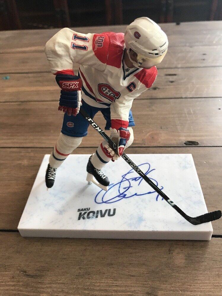 Signed Saku Koivu Mcfarlane  NHL  Series Figure Autograph