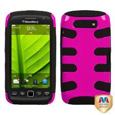 For BlackBerry Torch 9850 9860 Hybrid FISHBONE Case Phone Cover Rose Pink Black