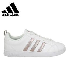 b7492e0b3b29 Image is loading Adidas-VS-ADVANTAGE-BB7248-White-Silver-Women