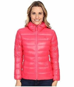 893c70d17 Details about adidas Womens Packable Pink Outdoor Light Hooded DOWN Jacket  Puffer Sz XS,M,L,XL