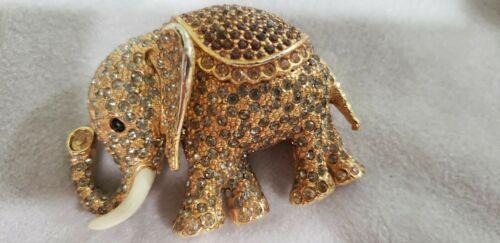 Large Vintage Rare Signed CINER Elephant Brooch Pa