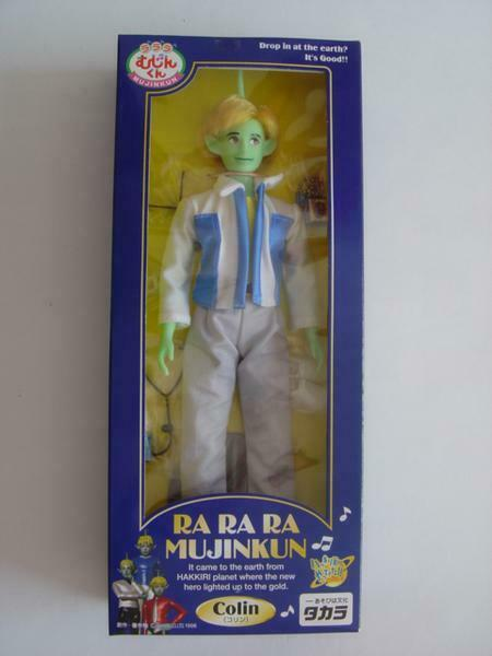 TAKARA RA RA MUJINKUN Colin Retro Doll 1998 Ny Unöppnade Oanvända Made in japan