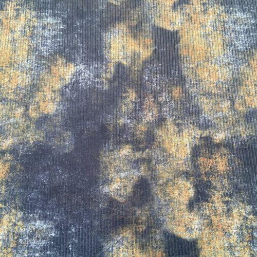FS711 Tie Dye Rib Jersey Polyester Loungewear Rib High Quality Stretch Fabric