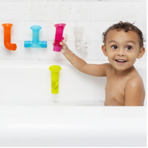 Boon Pipes Toy Multi-Coloured For Kids Children Make Bath Time Fun