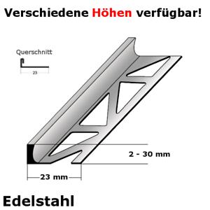 "Fliesenprofil /""0033/"" 2-30 x 23 mm; Edelstahl"