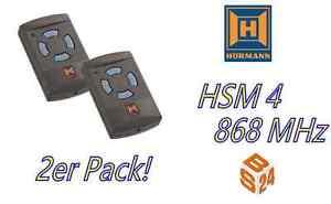 2 x hsm 4 h rmann 4 befehl handsender mit 868 mhz garagentor ffner fernbedienung ebay. Black Bedroom Furniture Sets. Home Design Ideas