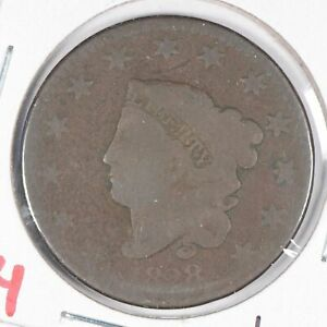1828-Coronet-Head-Large-Cent-Large-Narrow-Date-Good-Condition