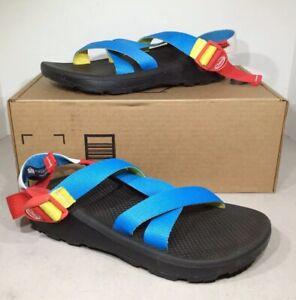 Chaco-Z-Cloud-Men-s-Sz-8-Black-Multicolor-Adjustable-Strap-Sport-Sandals-XS-526