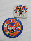 1990s/2004 Epcot Buttons Disney WORLD SHOWCASE MICKEY & FLAGS France Norway UK++