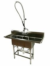 New 54 Stainless Steel Sink 3 Compartment Commercial Kitchen Bar Restaurant Nsf