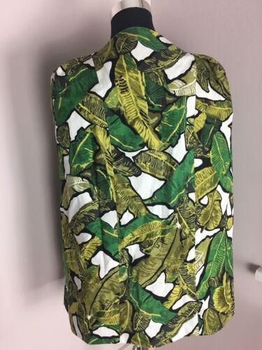 Tropical Palm 8 Towie Z Print 10 Cape Jacket Banana Lavish Alice Leaf 36 Blazer IwvxtvqAB