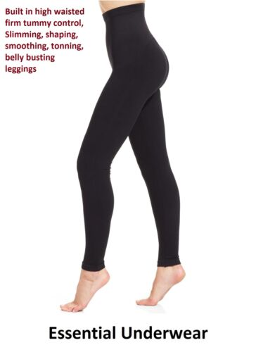 BEAUFORME,8-30 SLIMMING HIGH WAISTED LEGGINGS EXTRA FIRM STRONG TUMMY CONTROL